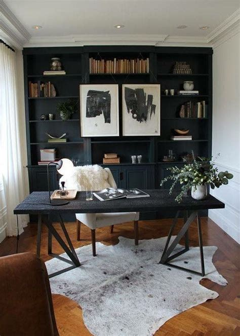 59 Stylish And Dramatic Masculine Home Offices - DigsDigs