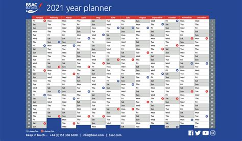 Started planning for 2021? BSAC's year planner is now