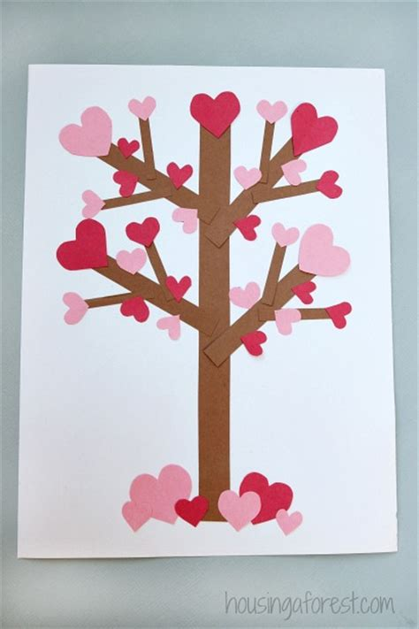 Valentine's Day Tree Paper Craft   Housing a Forest