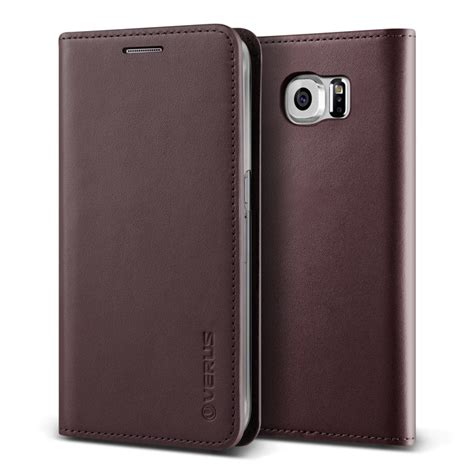 VERUS Genuine Leather Diary Case for Samsung Galaxy S6