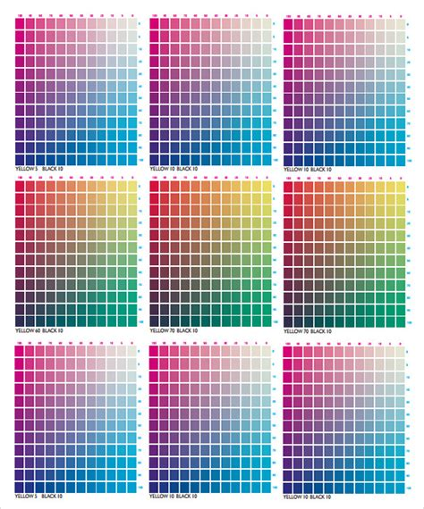 FREE 8+ Sample CMYK Color Chart Templates in PDF