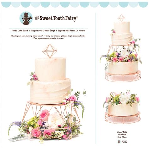 Sweet Tooth Fairy Rose Gold Geometric Tiered Cake Stand