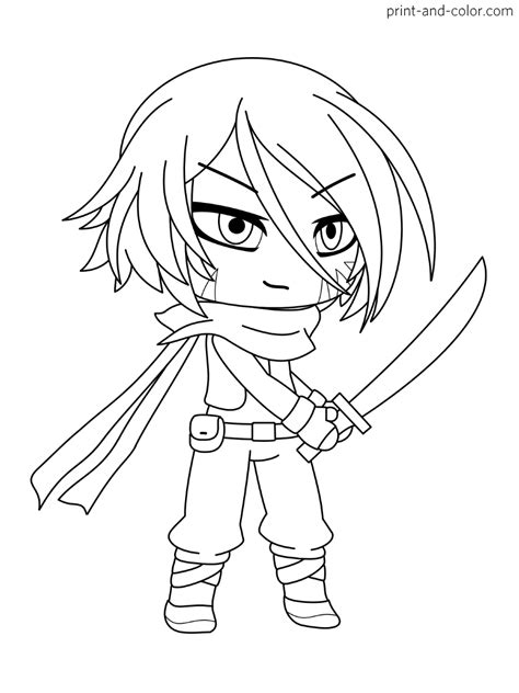 Gacha Life coloring pages | Print and Color