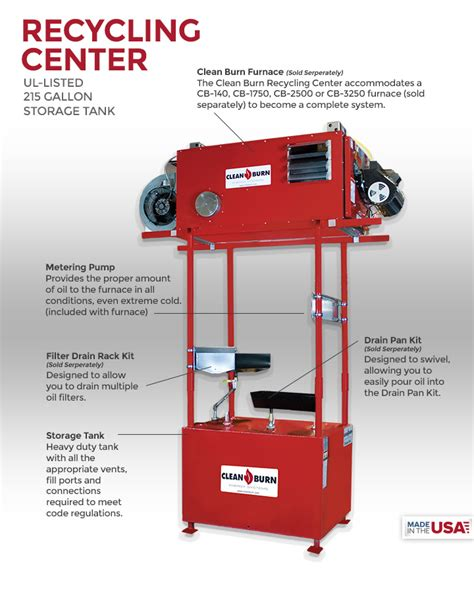Recycling Center - CLEAN BURN® - Waste Oil Heater, Waste