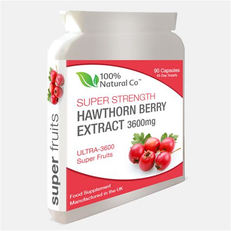 Hawthorn Berry Extract Capsules - 100% Natural Co