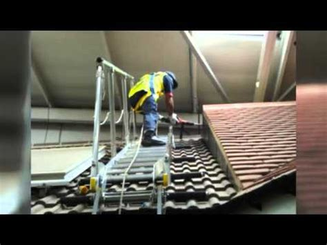 Sloping Roof system from Hewitt Ladders - YouTube