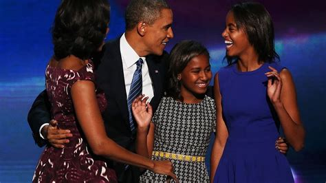 Obama daughters, little seen since 2008, seem poised and