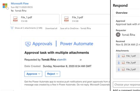 Assign approval task with multiple (0 - n) attachments in