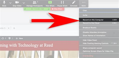 Recording a lecture with Zoom and Powerpoint with picture