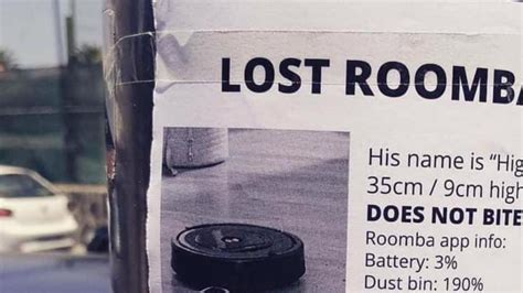 Robot vacuum cleaner Roomba makes run for it, prompting